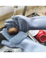 Reusable Silicone Cleaning and Scrubbing Gloves (1 Pair)