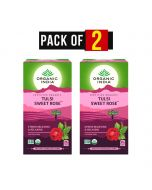 Tulsi Sweet Rose Tea (25 Tea Bags) Pack of 2 - Organic India