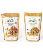 Cranberry Crunch 200 gm and Tangy Masala Crunch 100 gm Oats Granola Rocks - Get Baked