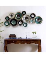 Metal Decorative Flowers Wall Hanging Modern 3D Arts Sculpture - Collectible India