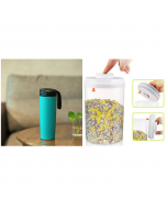 Super-Utility Gift Combo Anti-Spill Mug  Press and Fresh Container