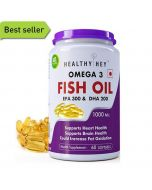 Omega-3 Fish Oil Soft Gel Capsules (1000 mg) 60 Capsules - HealthyHey