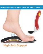 Shoe Orthotic Insole White And Red - Lumino Cielo
