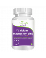 Calcium Magnesium Zinc with Vitamin D3 Tablets (60 Tablets) - Natures Velvet