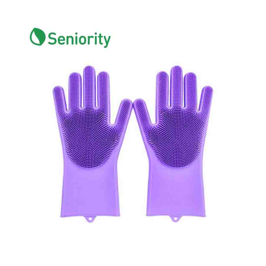 Silicone Cleaning Gloves (One Pair) - Seniority
