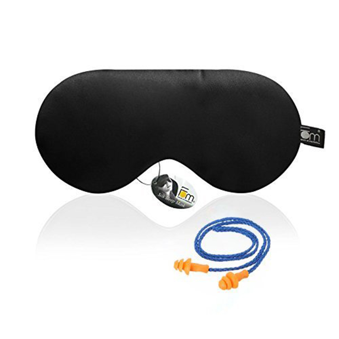 Mulberry Silk Sleep Mask With Ear Plugs - Friends of Meditation
