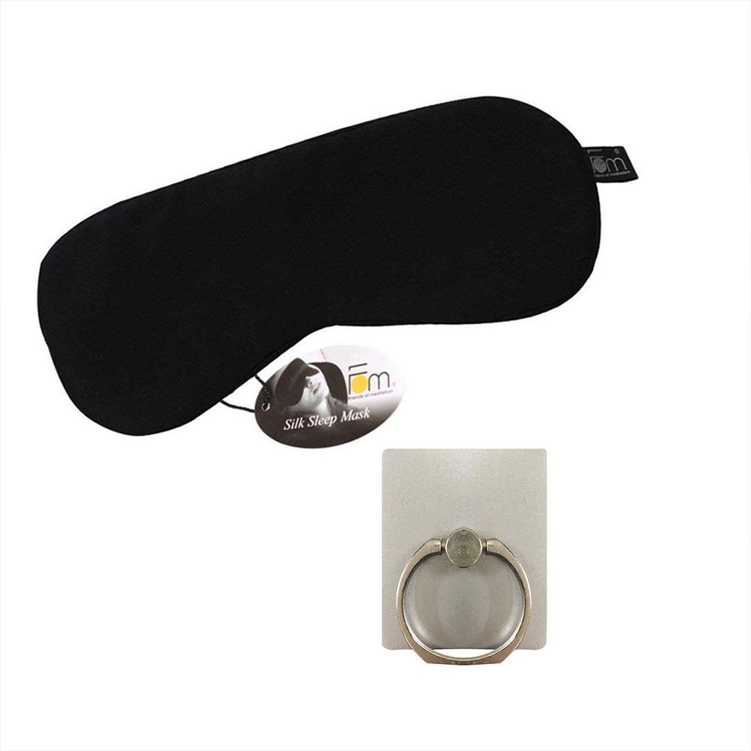 Mulberry Sleep Mask and Mobile Ring Holder - Friends of Meditation