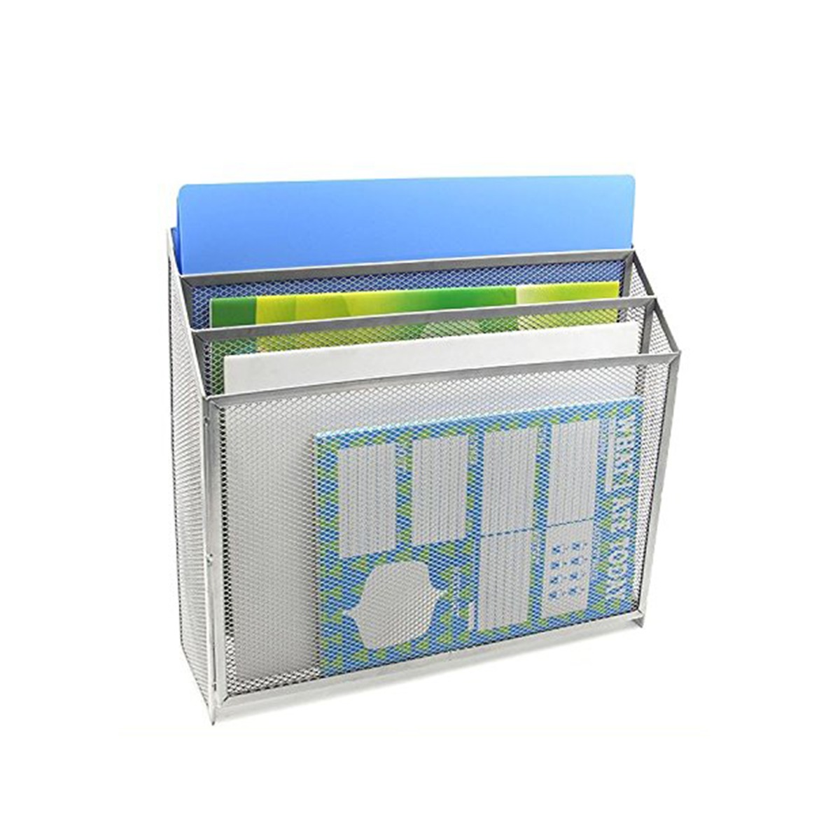 Metal Mesh 3-Compartment Letter Tray - Callas