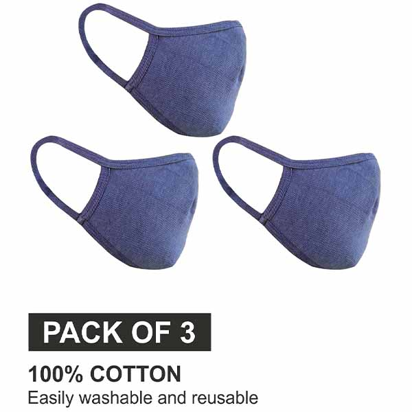 Reusable Protective Cloth Face Mask For Outdoor (Blue) - Be Safe