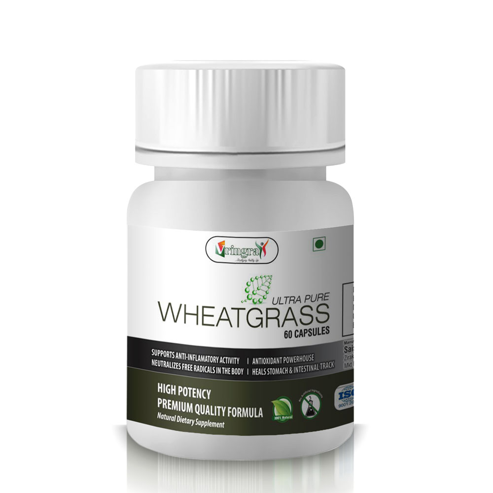 World Class Pure Wheatgrass Extract Capsules - Antioxidants For Healthy Body and Mind (60 Capsules)