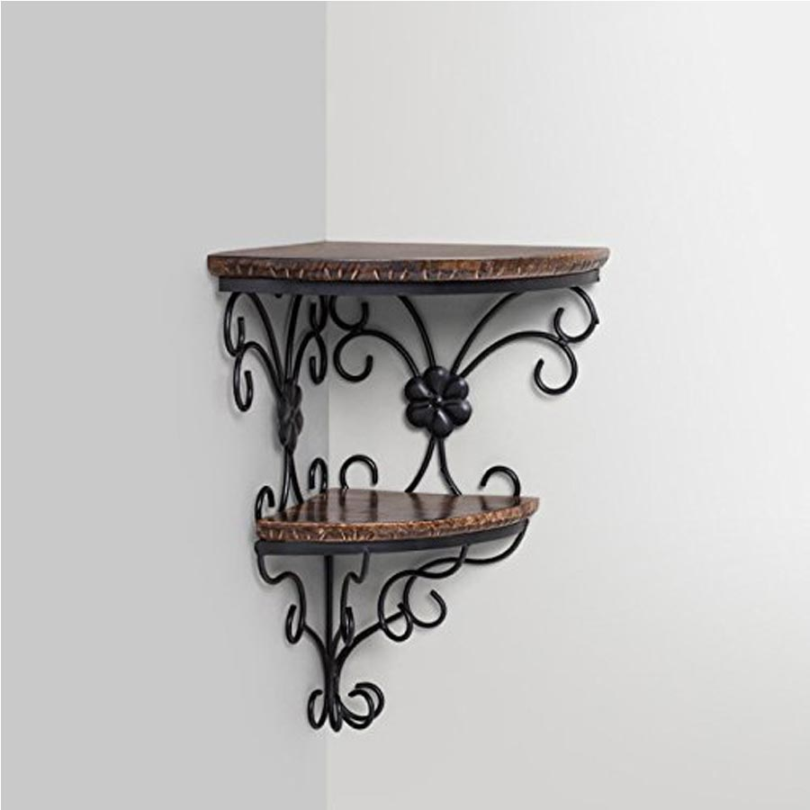 Wooden Decorative Wall Shelf (Brown) - Woodenclave