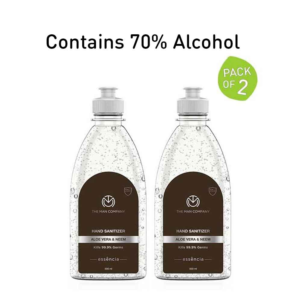 Hand Sanitizer Gel 70% Alcohol (500 ml x 2) - The Man Company