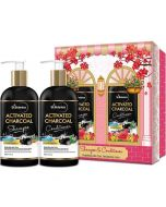 Activated Charcoal Hair Shampoo and Conditioner (300 ml Each) - St Botanica