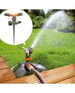 Three Arm Sprinkler With Metal Spike With Sprinkler Connector 12- Falcon