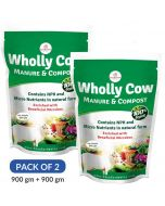 Wholly Cow Manure and Compost (2 Pack of 900 gm) - Casa De Amor
