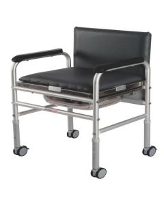 Invalid Adj. Commode Walker With Back Rest - Vissco