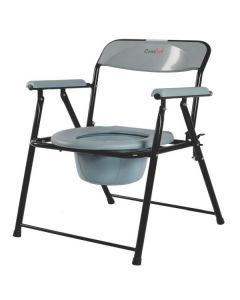 Steel Folding Commode Chair - Comfort