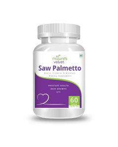 Saw Palmetto with Biotin and Vitamin Tablets (60 Tablets) - Natures Velvet