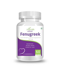 Fenugreek Pure Extract 500 mg Capsules (60 Capsules) - Natures Velvet