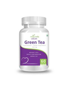 Green Tea Pure Extract 500 mg Capsules (60 Capsules) - Natures Velvet