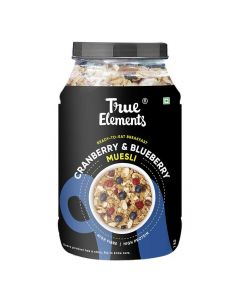 Cranberry and Blueberry Muesli (1000 gm) - True Elements