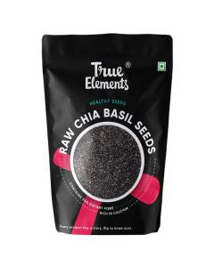 Raw Chia Basil Seeds (500 gm) - True Elements
