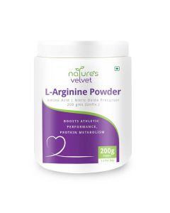 L-Arginine Powder for Muscle Building and Performance (200 gm) - Natures Velvet