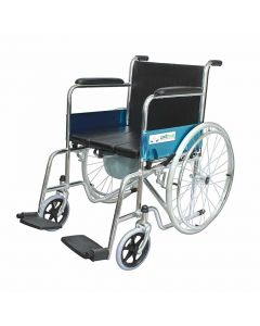Lightweight Wheelchair with Commode seat cushion and pot (KL609U) - Entros