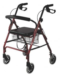 Dura Rollator with Seat and Basket - Vissco