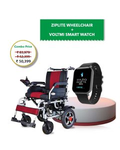 Combo of Power Wheelchair Zip Lite and Dr. Senor Smart Watch Amoled Full-Touch Screen - Vissco + Voltmi