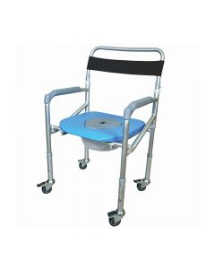 Comfort - Commode and Shower Chair With Wheel - Vissco