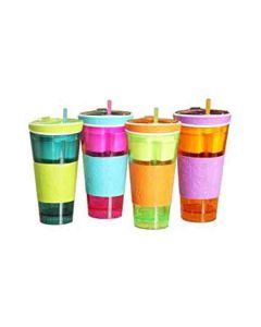 2 in 1 Snack and Drink Snackeez Cup (Multi-color)