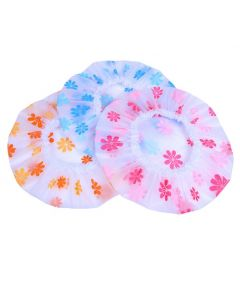 Floral Waterproof Shower Cap (Pack of 3)