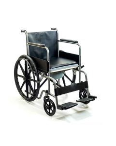Pride Chrome Plated Commode Wheelchair - Kosmocare