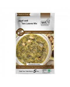Alu Bhaji (Taro Leaves) Ready to Cook - 50 gm (Pack of 5) - Dhanashree Gruha Udyog