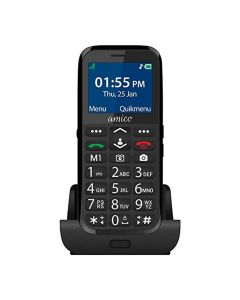 Amico Senior Friendly Phone (Black) - Easyfone