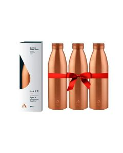Home Seamless 100 Copper Bottle 850ML Pack of 3 - Aayu