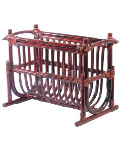 Brown Bookcase Made of Rattan - IRA