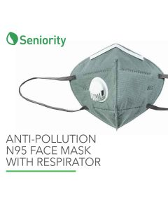 Anti-Pollution N95 Face Mask with Breathing Valve and Ear Loops - Seniority