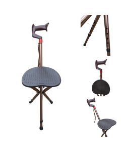 Walking Stick with Folding Stool