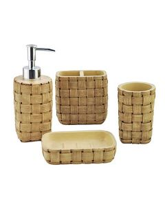 Stylish Bathroom Collection Platted Pattern (Set of 4) - Shresmo