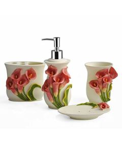 Bathroom Collection Pink and Cream (Set of 4) - Shresmo
