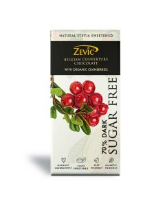 Belgian Couverture Chocolate with Organic Cranberries (90 gm) - Zevic
