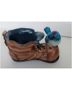 Bird on Shoe Pot - Bloom Bagicha