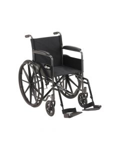 Black Sport Wheelchar with Fixed Arms and Swing Away Footrests - Drive DevilBiss