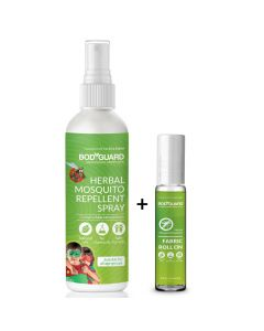 Herbal Mosquito Repellent Spray (100 ml) and Fabric Roll on (8 ml) - Sirona
