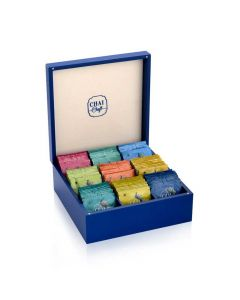 Assortment of 9 Teas in a Wooden Gift Box (90 Tea Bags) - Chai Craft