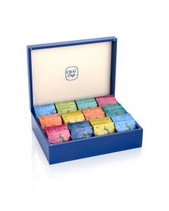 Assortment of 12 Teas in a Wooden Gift Box (120 Tea Bags) - Chai Craft