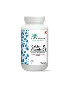 Calcium and Vitamin D3 Capsules (60 Softgel Capsules) - La Natures