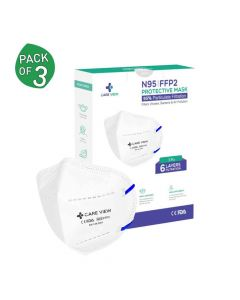 FFP2 N95 Protective 6-Layer Mask With Head Loops - Careview